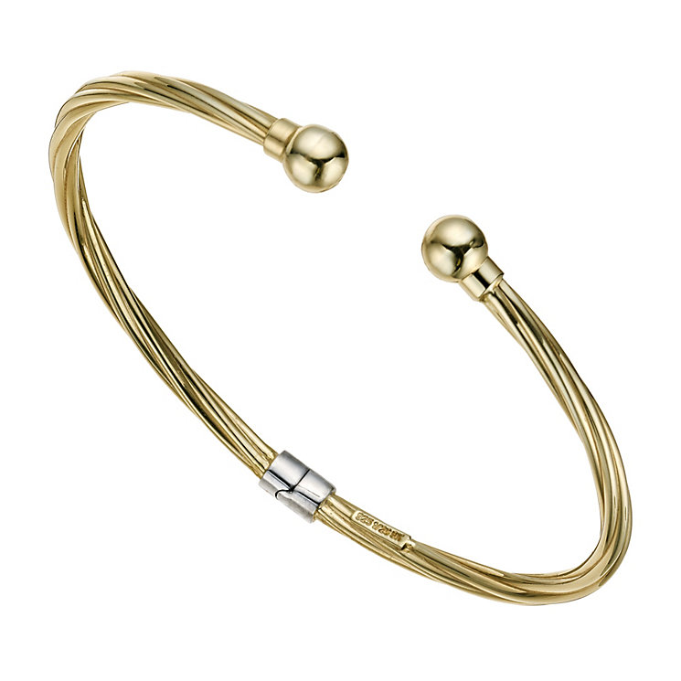 Together Bonded Twist Hinged Torque Bangle - Product number 9684298