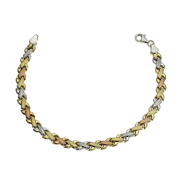 """Together Bonded 3 Colour Kiss Bracelet 7.25"""" - Product number 9684352"""