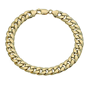 "Together Bonded Silver & 9ct Gold 8.2"" Curb Bracelet - Product number 9687203"