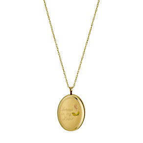 Silver & 9ct Yellow Gold Oval Locket - Product number 9687424