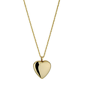 Silver & 9ct Yellow Gold Heart Locket - Product number 9687432
