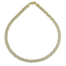 "Together Bonded Silver & 9ct Gold Two Colour Necklace 17.5"" - Product number 9687602"