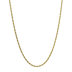 Together Bonded Silver & 9ct Gold Twist Necklace 18