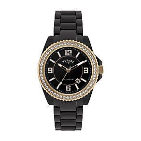 Rotary Ceramique Ladies' Black Stone Set Bracelet Watch - Product number 9687637