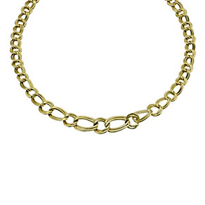 "Together Bonded Silver & 9ct Gold Double Curb Necklace 18"" - Product number 9687661"