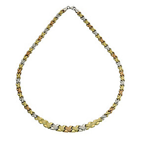"Together Bonded 3 Colour Kiss Necklace 17"" - Product number 9687696"
