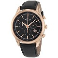 Rotary Men's Chronograph Black Dial Leather Strap Watch - Product number 9687882