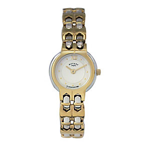 Rotary Ladies' Two Colour Gold Plated Bracelet Watch - Product number 9687955