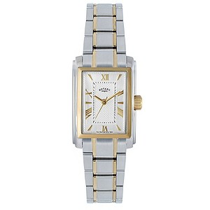 Rotary Ladies' Gold Plated Two Colour Bracelet Watch - Product number 9687971