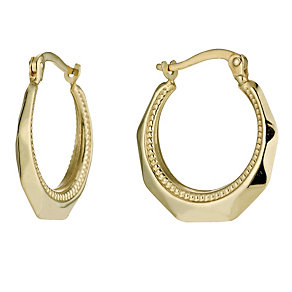 Together Bonded Silver & 9ct Gold Creole Earrings - Product number 9688870
