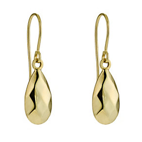 Bonded Together Silver & 9ct Yellow Gold Tear Drop Earrings - Product number 9688900