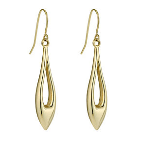 Bonded Together Silver & 9ct Yellow Gold Long Drop Earrings - Product number 9688951