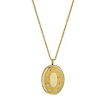 "Bonded Silver and 9ct Gold Oval Locket 18"" - Product number 9689087"