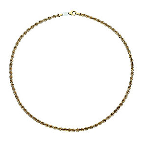 Together Bonded Silver & 9ct Gold Rope Necklace - Product number 9689192