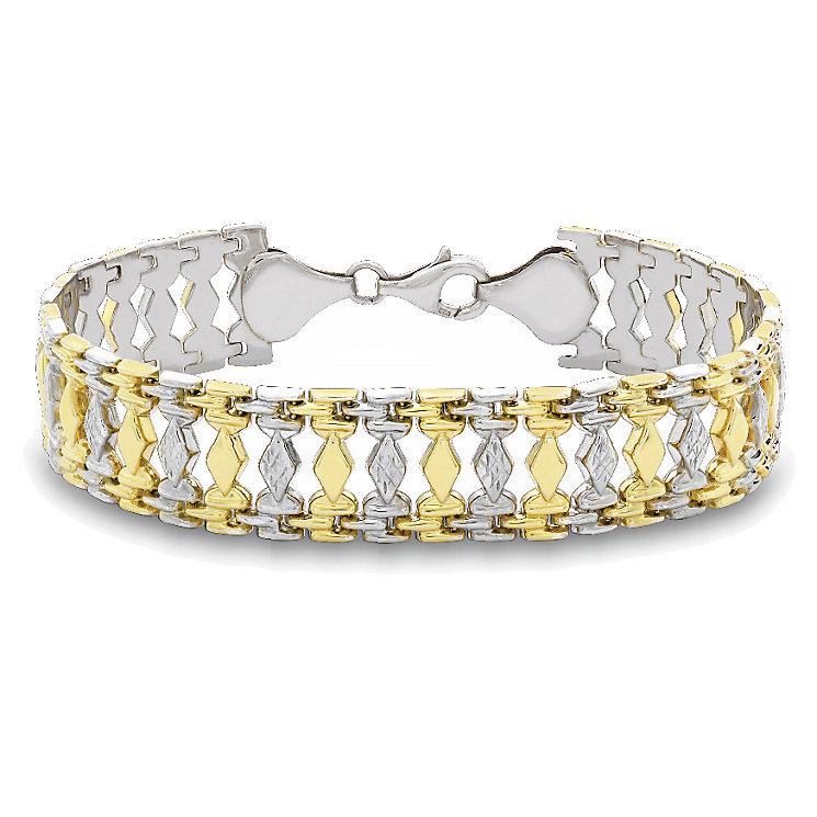 Together Bonded 9ct Yellow gold and Silver Bracelet - Product number 9689206