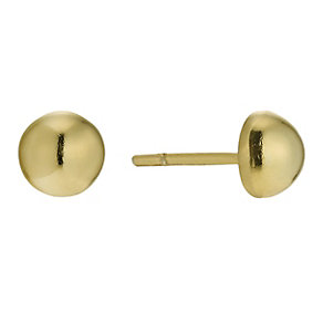 Silver & 9ct Gold Bonded Small Half Ball Stud Earrings - Product number 9689354