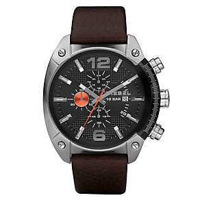 Diesel Mel Large Overflow Brown Strap Watch - Product number 9690042