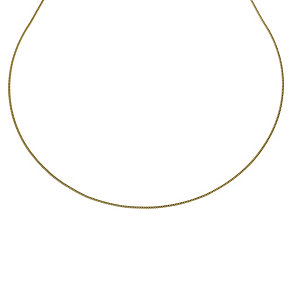 """Together Bonded Silver & 9ct Yellow Gold 18"""" Curb Chain - Product number 9690107"""