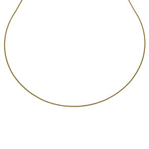 """Together Bonded Silver & 9ct Yellow Gold 20"""" Curb Chain - Product number 9690115"""