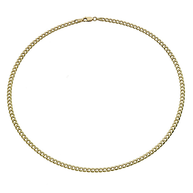 "Together Bonded Silver & 9ct Gold 18"" Curb Chain - Product number 9690131"