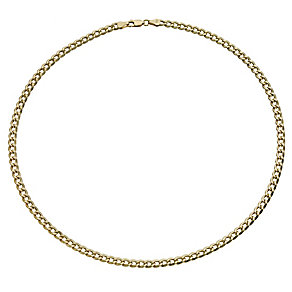 "Together Bonded Silver & 9ct Gold 18"" Curb Chain - Product number 9690158"