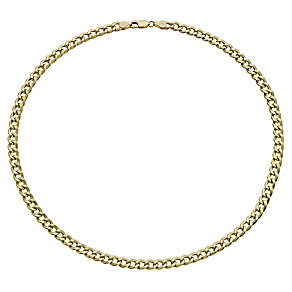 "Together Bonded Silver & 9ct Gold 20"" Curb Chain - Product number 9690174"