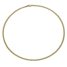 "Together Bonded Silver & 9ct Gold 20"" Solid Curb Chain - Product number 9690204"