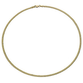 "Together Bonded Silver & 9ct Gold 24"" Solid Curb Chain - Product number 9690212"