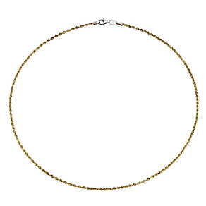 "Together Bonded Silver & 9ct Gold 18"" Rope Chain - Product number 9690468"