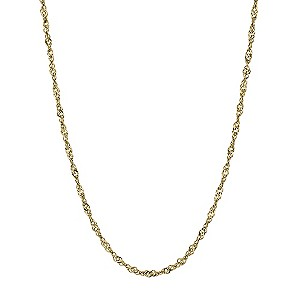"Together Bonded Silver & 9ct Yellow Gold 16"" Singapore Chain - Product number 9690492"