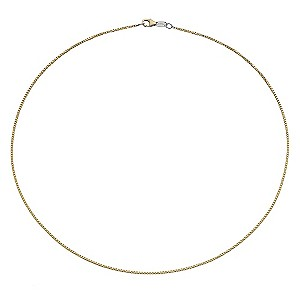 "Together Bonded Silver & 9ct Gold 18"" Big Box Chain - Product number 9690506"