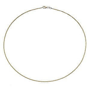 "Together Bonded Silver & 9ct Gold 20"" Big Box Chain - Product number 9690514"