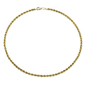 Together Bonded Silver & 9ct Gold Rope Necklace - Product number 9690522