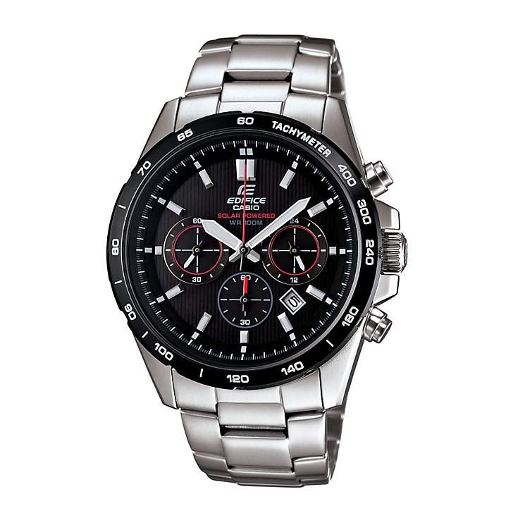 Casio Edifice Men's Solar Stainless Steel Bracelet Watch - Product number 9690646