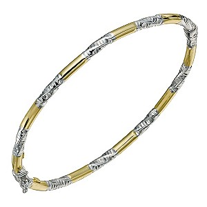 Together Bonded Silver & 9ct Yellow Gold Twist Bangle