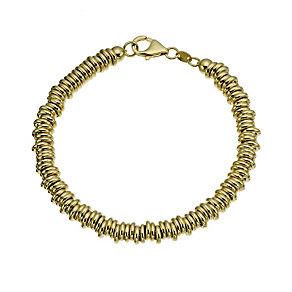 "Together Bonded Silver & 9ct Gold Candy Bracelet 7.25"" - Product number 9690700"