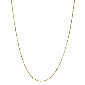 "Together Bonded Silver & 9ct Yellow Gold 18"" Chain - Product number 9690727"