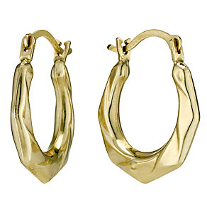 Together Bonded Silver & 9ct Gold Creole Earrings - Product number 9690786