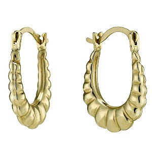 Together Bonded Silver & 9ct Gold Oval Creole Earrings - Product number 9690794