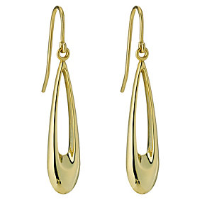 Together Bonded Silver & 9ct Yellow Gold Long Drop Earrings - Product number 9690956