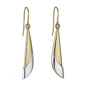 Together Bonded Silver & 9ct Yellow Gold Drop Earrings - Product number 9690964