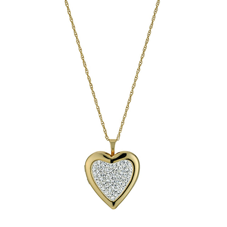 Sterling Silver & 9ct Yellow Gold Crystal Locket - Product number 9691006