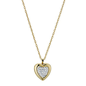 Together Bonded Silver & 9ct Gold Crystal Locket - Product number 9691014