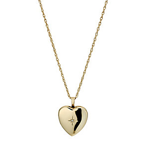 Together Bonded Silver & 9ct Gold Diamond Locket - Product number 9691022