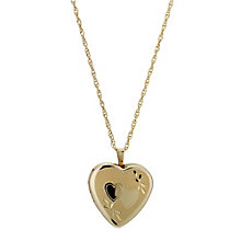Together Bonded Silver & 9ct Gold Double Heart Locket - Product number 9691049