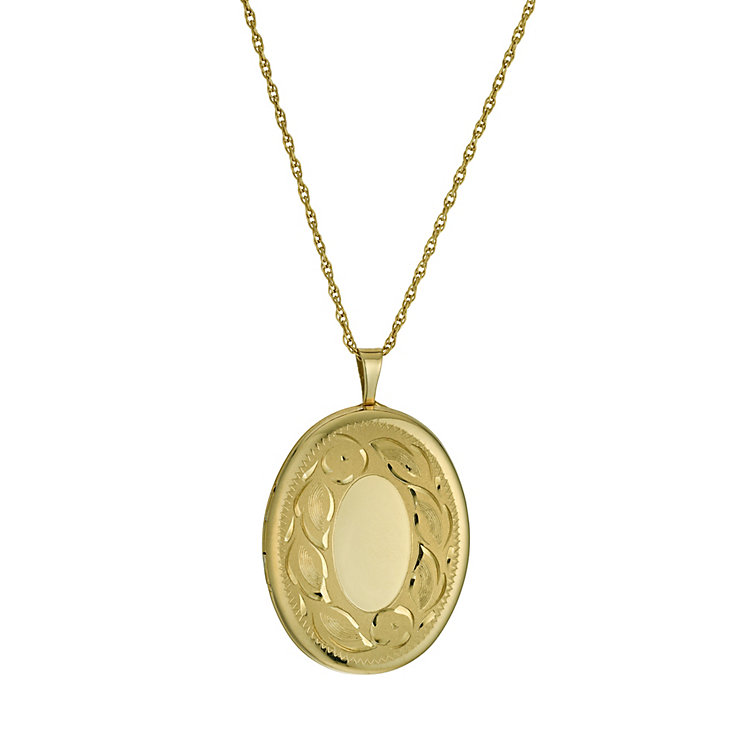 Silver & 9ct Yellow Gold Oval Locket - Product number 9691057