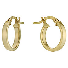 Together Bonded Silver & 9ct Gold 10mm Creole Hoop Earrings - Product number 9691081