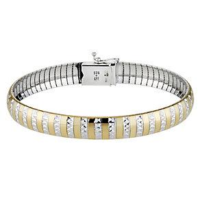Together Bonded Silver & Gold Omega Bracelet - Product number 9693998