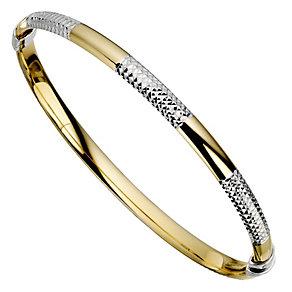 Together Bonded Silver & Gold Bangle - Product number 9694005