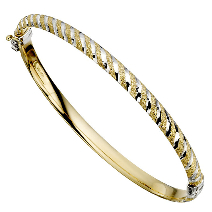 Together Bonded Silver & Gold Striped Bangle - Product number 9694013